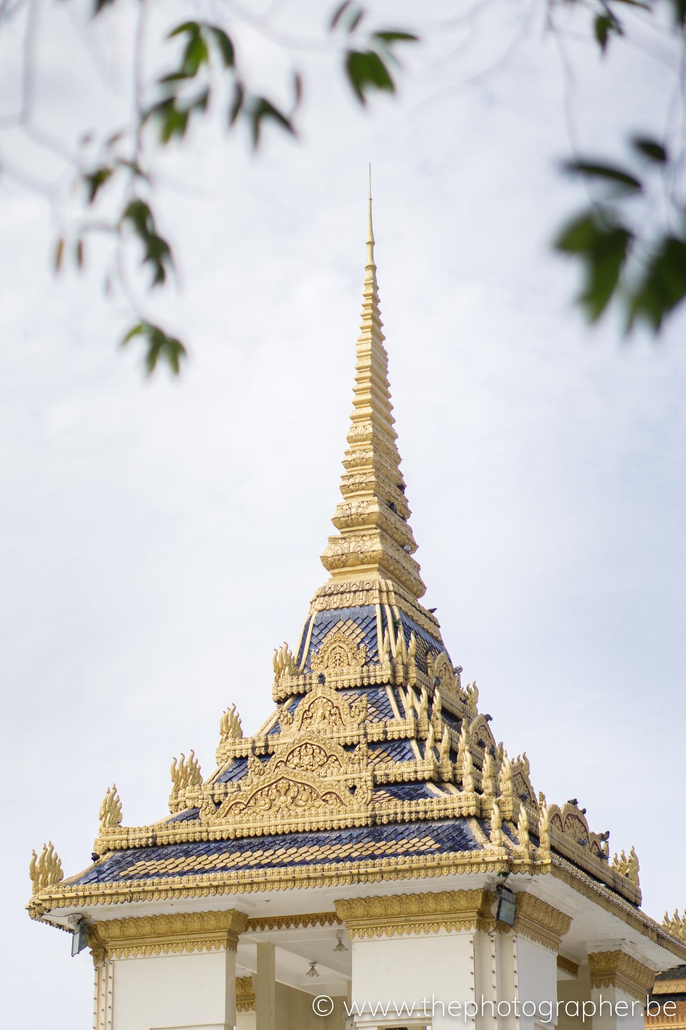 De toren van een tempel in Cambodja