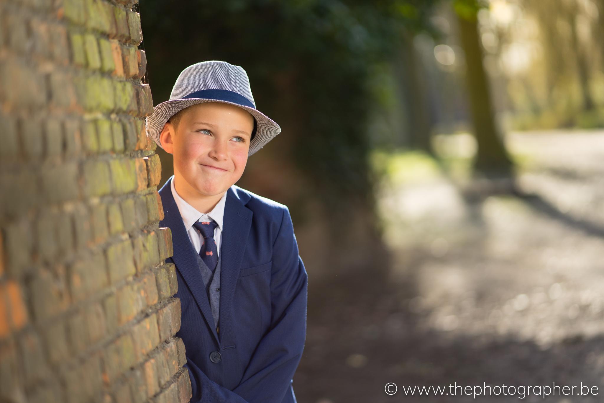 Portretfotograaf voor communiefoto's in Antwerpen van Tibo