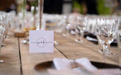Fijne details op de tafels bij je huwelijksfeest