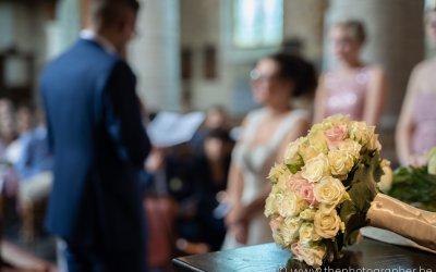 Een speciale plaats voor het bruidsboeket
