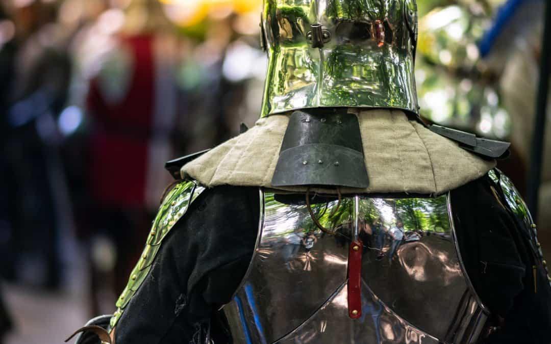 Een stoere ridder op 'De Quaeye Werelt'