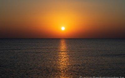 Een prachtige zonsopgang in Egypte