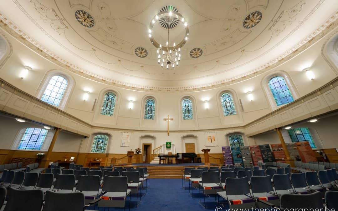 De prachtige St Andrew's and St George's West kerk in Edinburgh Schotland