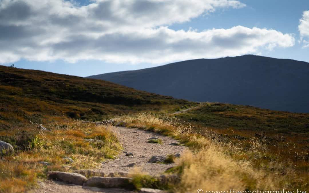 Een prachtig zicht over Cairngorms National Park, Schotland